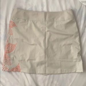 Adidas khaki beige golf mini skirt